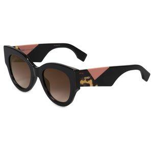 FENDI FACETS FF 0264 Black Havana Pink Sunglasses